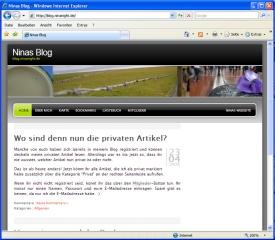 Ansicht im Internet Explorer 7
